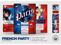 French Party Flyer Bundle