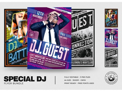 Special DJ Flyer Bundle V1