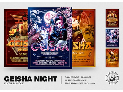 Geisha Night Flyer Bundle