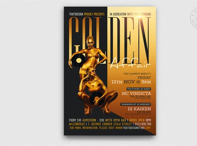 Golden affair Flyer Template