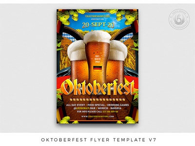 Oktoberfest Flyer Template V7