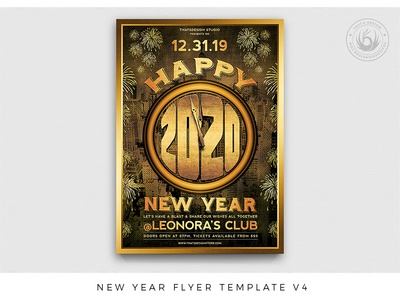 New Year Flyer Template V4