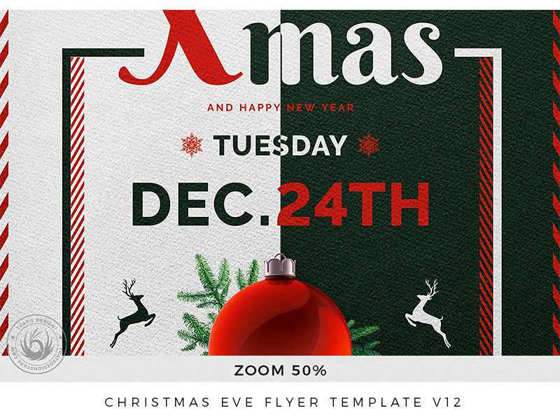 Christmas Party V12 2020 Flyer Christmas Eve Flyer Template V12 by Lionel Laboureur on Dribbble