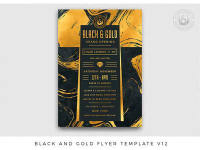Black and Gold Flyer Template V12