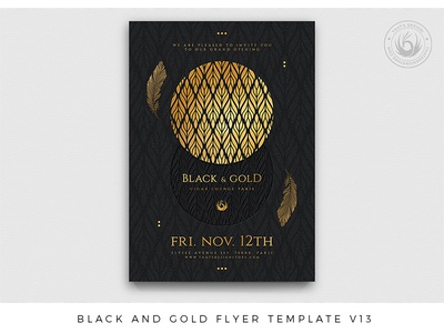 Black and Gold Flyer Template V13