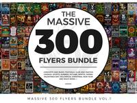 Massive 300 Flyers Bundle Vol.1