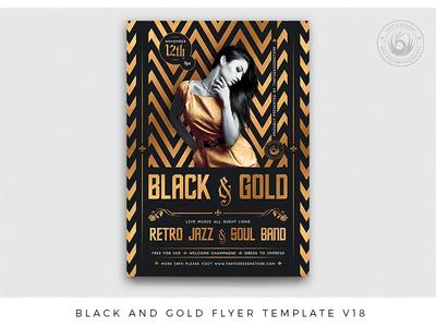 Black and Gold Flyer Template V18