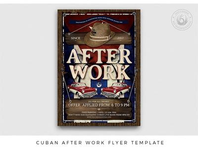 Cuban After Work Flyer Template