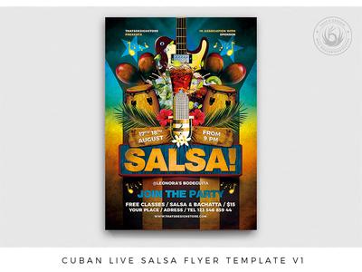 Cuban Live Salsa Flyer Template V1