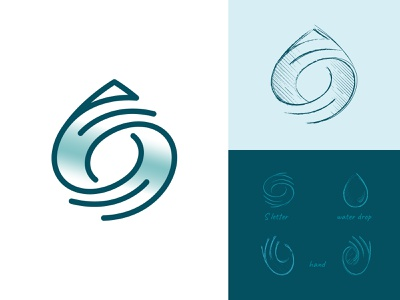SAIWA mark nature environment ideas sketch identity creative monogram sparing water water logo hands hand lettering logo hand drop water water branding symbol logo logo design