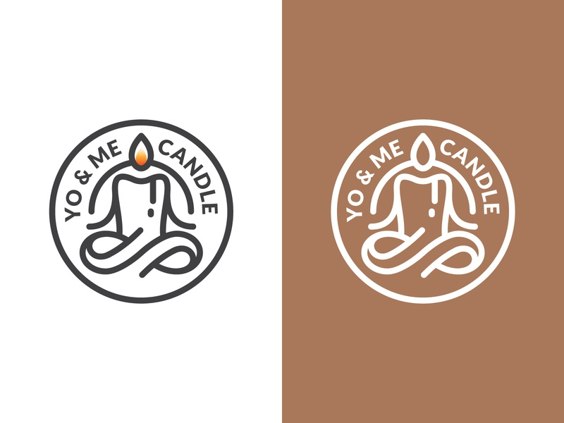 Yoga & Meditation Candle Logo
