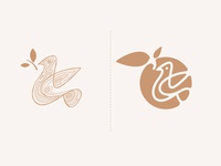 Bird Logo Design icon birds symbol mark portfolio identity branding animal logo animal logodesign creative simple logo fruit logo bird logo nature agriculture fruit bird