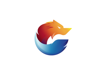 Wolf logo & animation grid golden ratio logo branding idenity mark icon symbol animation brand fox logo logo grid animal logo golden ratio wolf logo fox wolf logo design