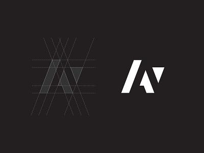 AN Architecture - Logo & grid grid wordmark logotype guideline logo grid mark branding symbol logo design logo architecture an