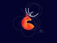 Deer logo with golden ratio