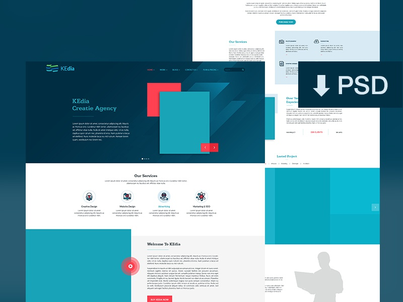 Kedia Free Templates - Download web design free tutorial website psd website psd download download creative free website website free download free templates kedia