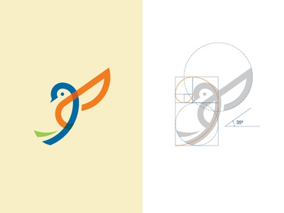 Bird Logo Design logo for sale logo design logo identity guidelines manual grids golden ratio concept branding brand bird animal