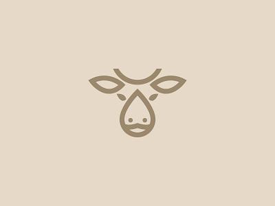 Cow + Milk Logo - For Sale mark symbol brand logo design cow milk logo line logo buy logo for sale monogram animal milk cow