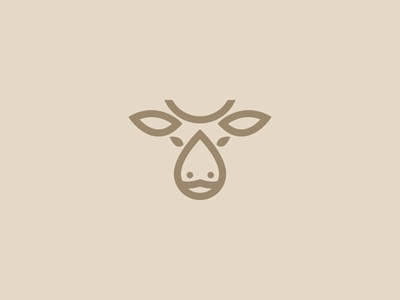 Cow + Milk Logo - For Sale mark symbol brand logo design cow milk logo line logo buy logo for sale monogram animal milk cow
