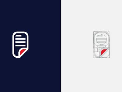 Paper Logo and Golden Ratio Grids logo design simple logo paper logo monogram golden ratio logo with golden ratio golden ratio design print logo logo grids paper circular grids