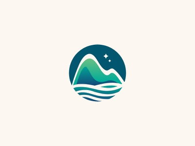 Sea And Mountain Logo symbol logo design natural nature logo hill mountain dainogo logo ocean sea