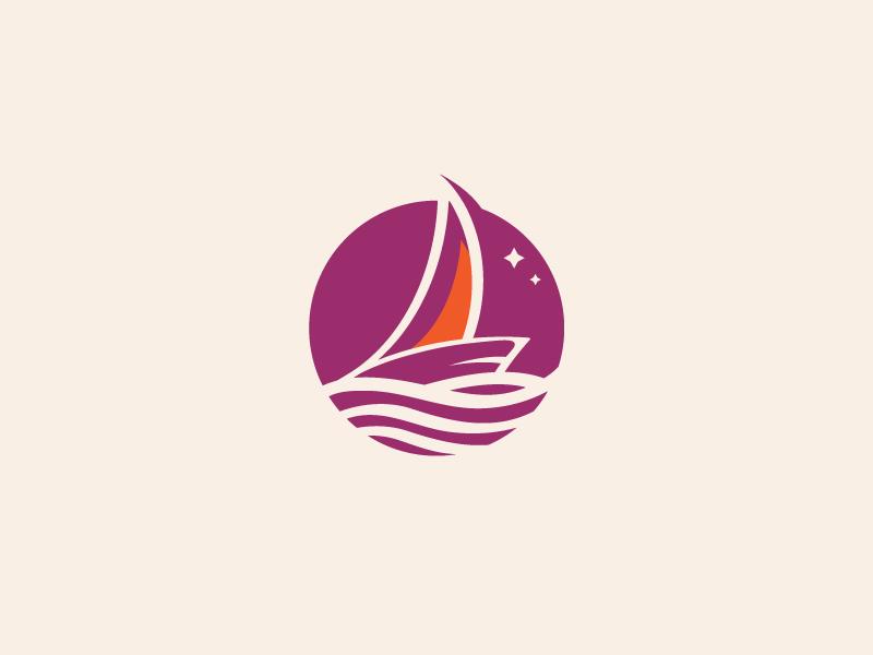 Sea and Sailing Logo sea ocean logo mark travel sailing ship boat logo design symbol