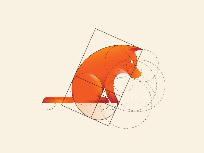Dog Logo with Golden Ratio and Tutorial golden ratio dog logo dog logo design brand branding concept grids tutorial logo design sketch animal logo drawing