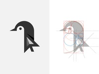 Penguin Logo and Golden Ratio Grids