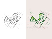 Bird Logo and Golden Ratio Grids