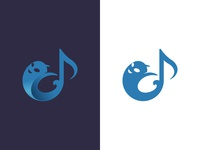 Ghost and music note logo