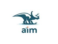 AIM Logo - Dinosaur logo design