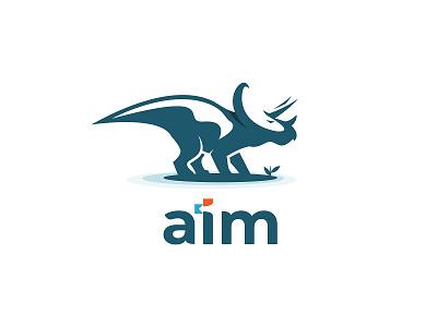 AIM Logo - Dinosaur logo design dinosaurus dinosaur animal logo animal branding symbol logo logo design