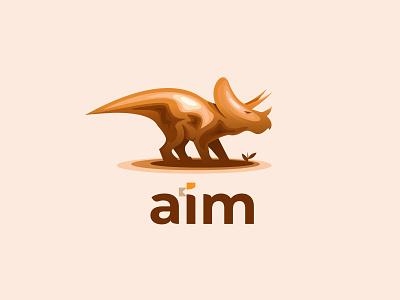 aim logo colorful gradient color dinosaurus dinosaur dainogo animal logo animal branding logo design