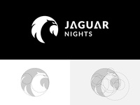 Jaguar Nights logo & golden ratio grids