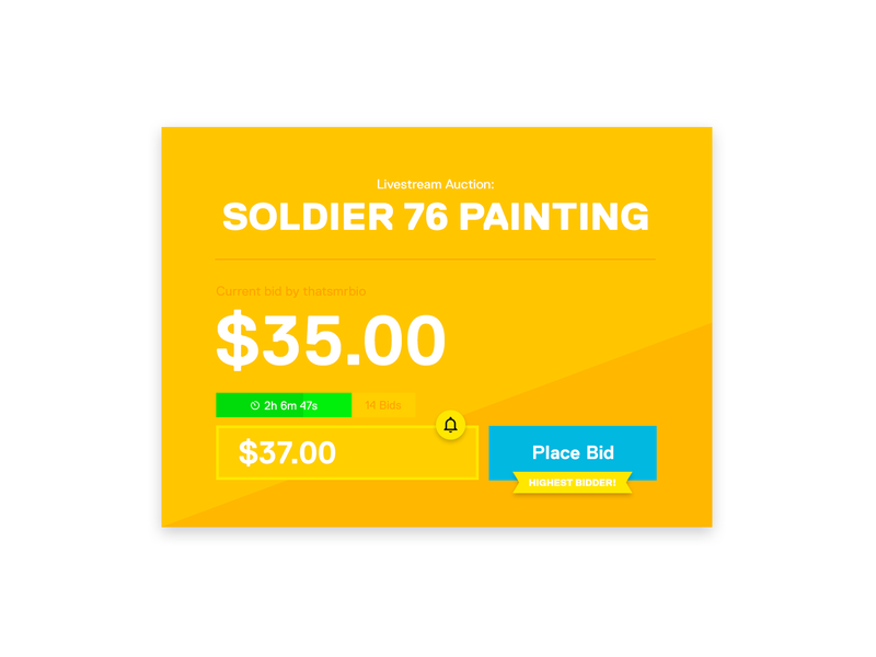 Twitch Auction Extension by Matthew Hamilton on Dribbble