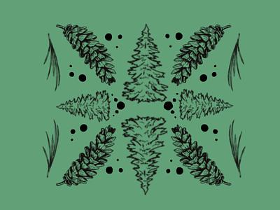 Symmetry of Nature P.2 label design nature symmetry logo design cannabis design illustration cannabis packaging package design brandidentity cannabis branding tree forest