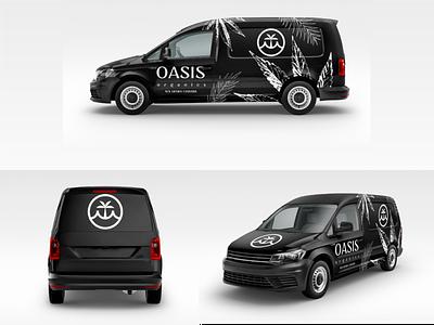 Oasis Cannabis Van Wrap cannabis branding car wrap design illustration branding cannabis logo brandidentity