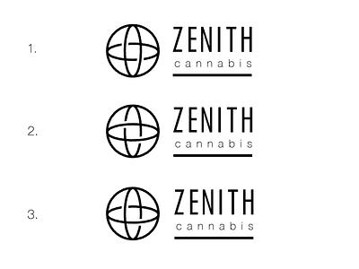 Zenith Cannabis Logo Design monoline logo package design illustration cannabis packaging branding cannabis branding cannabis logo brandidentity