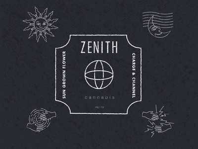 Zenith Cannabis Label Layout cannabis design branding cannabis logo illustration vintage design brandidentity cannabis packaging cannabis branding label packaging label design package design