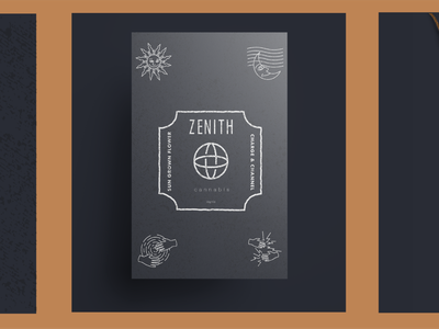 Zenith Cannabis Packaging and Products vintage design label design label packaging cannabis design package design illustration cannabis packaging branding cannabis logo cannabis branding brandidentity