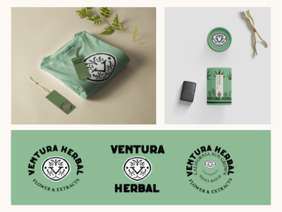 Ventura Herbal: Logo, Packaging and Merch Design