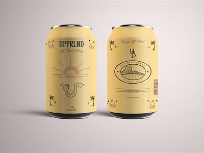 Upprlnd Brewery craft beer beer can design logo design label packaging label design vintage design package design illustration branding brandidentity