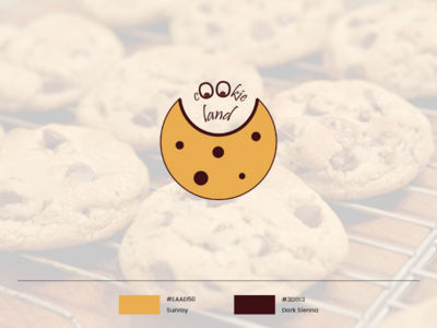 Cookie Land Logo cookie identity branding brand design logo