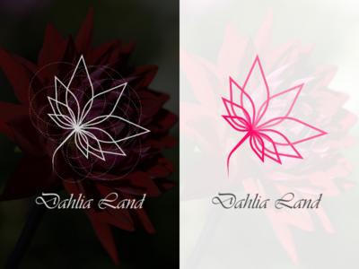 Dahlia Land Logo dahlia design minimal identity branding design branding brand logo design logo