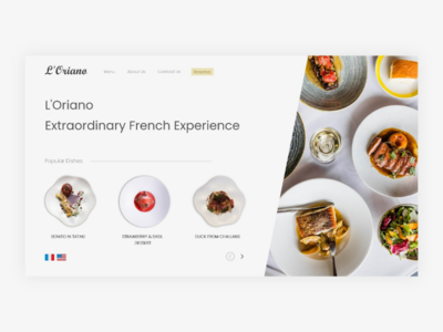 French Restaurant Website french restaurant minimal website design website ui design ux ui web design web