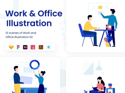 Work and Office Illustration Kit