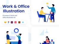 Work and Office Illustration Kit