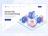 Smart City - Isometric Header Illustration