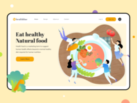 Healthline - Header Illustration Healthy Food Website
