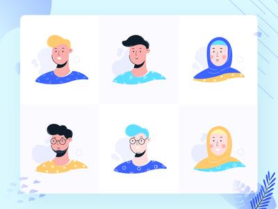Avatar Illustrations - Noansa Team